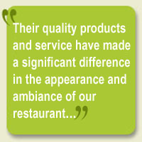 testimonial from restaurant owner for plant services